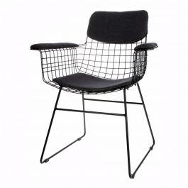 comfort kit zwart stoel met armleuning - HKliving - www.wantsandneeds.nl - TAA1284