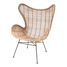 Fauteuil rotan naturel - HKliving - www.wantsandneeds.nl - RAT0034