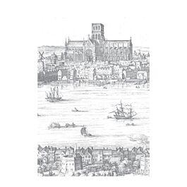Fotobehang engraved landscapes Londen 280 x 194,8