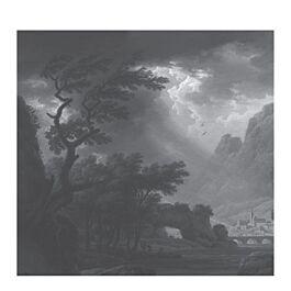 fotobehang l golden age landscapes trees dark 280 x 292,2
