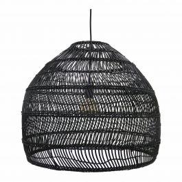 hanglamp riet zwart - HKliving  - www.wantsandneeds.nl - VOL5016
