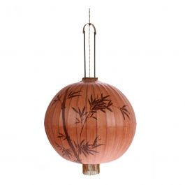 Hanglamp stoffen lantaarn in terra - HKliving - www.wantsandneeds.nl - VOL5025