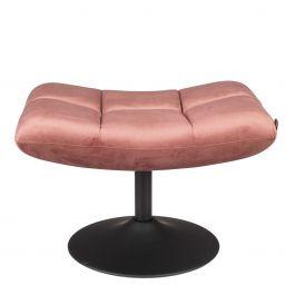 Hocker Bar roze velvet - Dutchbone - www.wantsandneeds.nl - 3300035