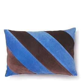 Sierkussen Velvet Gestreept Blauw Paars - HKliving - www.wantsandneeds.nl - TKU2082