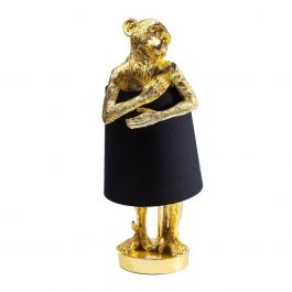 Tafellamp Animal Monkey Goud met Zwart - Kare Design - www.wantsandneeds.nl - 61961