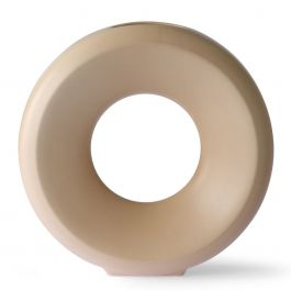 Vaas Circle Sand - HKliving - www.wantsandneeds.nl - ACE6960