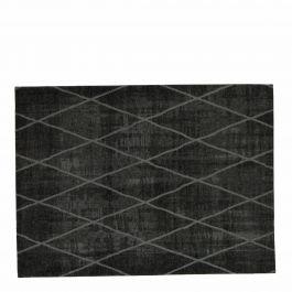 vloerkleed cross donker grijs