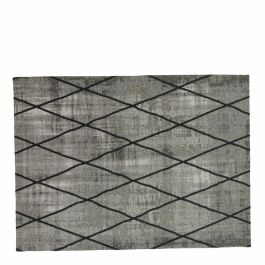 vloerkleed cross zilver grijs