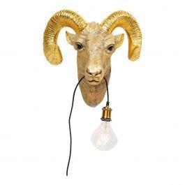Wandlamp Animal Aries Head 48,5 x 30,5 x 46,5 - Kare Design - www.wantsandneeds.nl - 52709