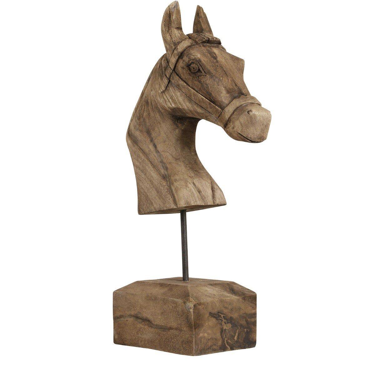 Light&Living Dierenkop Paard Hout 48 x 25
