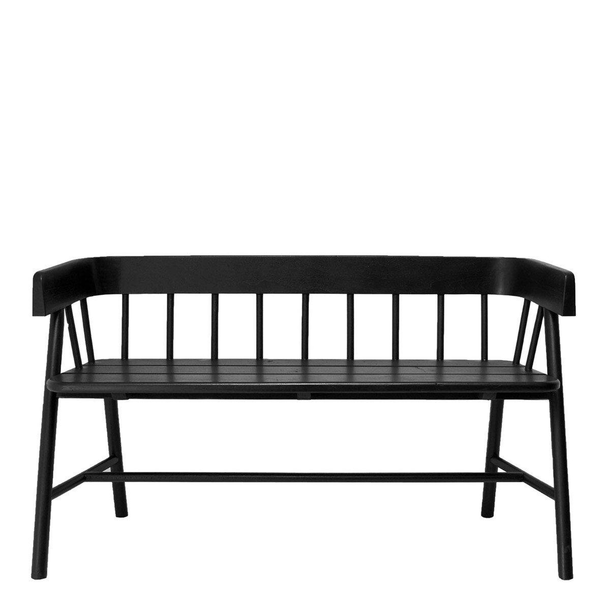HKliving eetkamerbank hout zwart 72 x 123 x 45