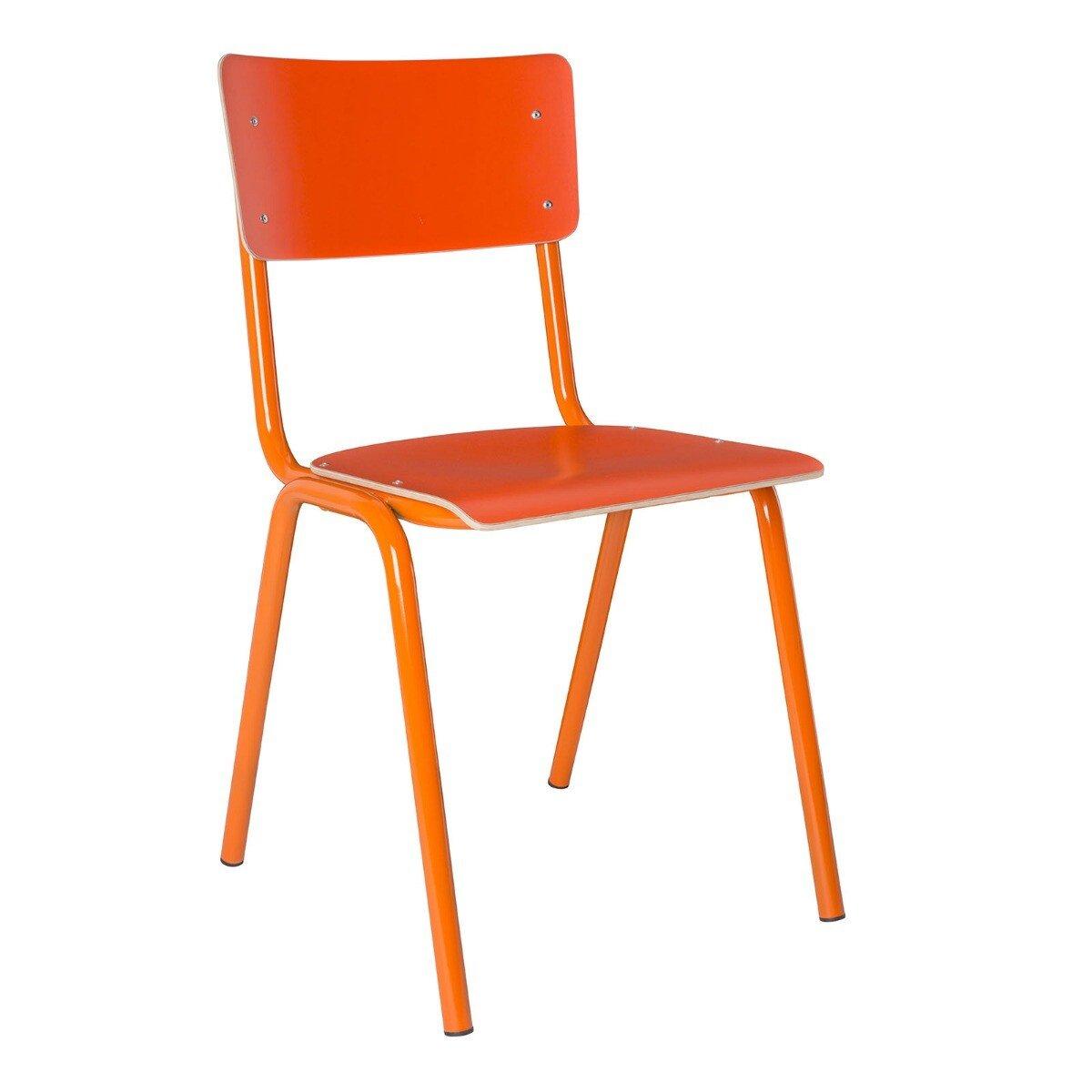 Zuiver Back to School Stoel Oranje