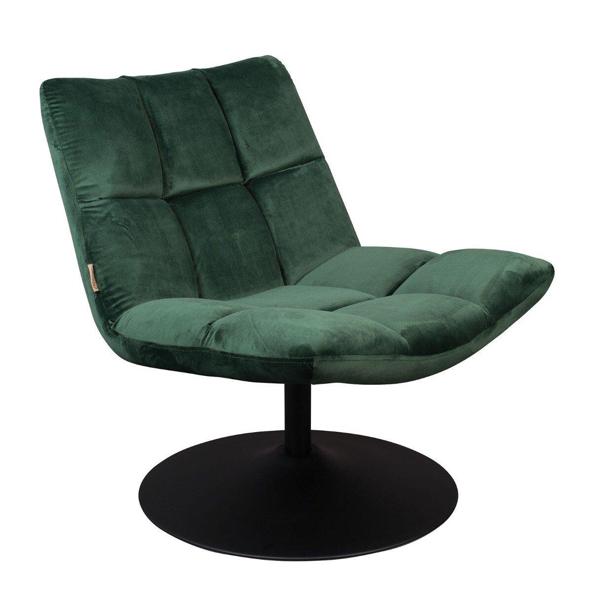 Dutchbone fauteuil Bar velvet groen 78 x 66 x 81