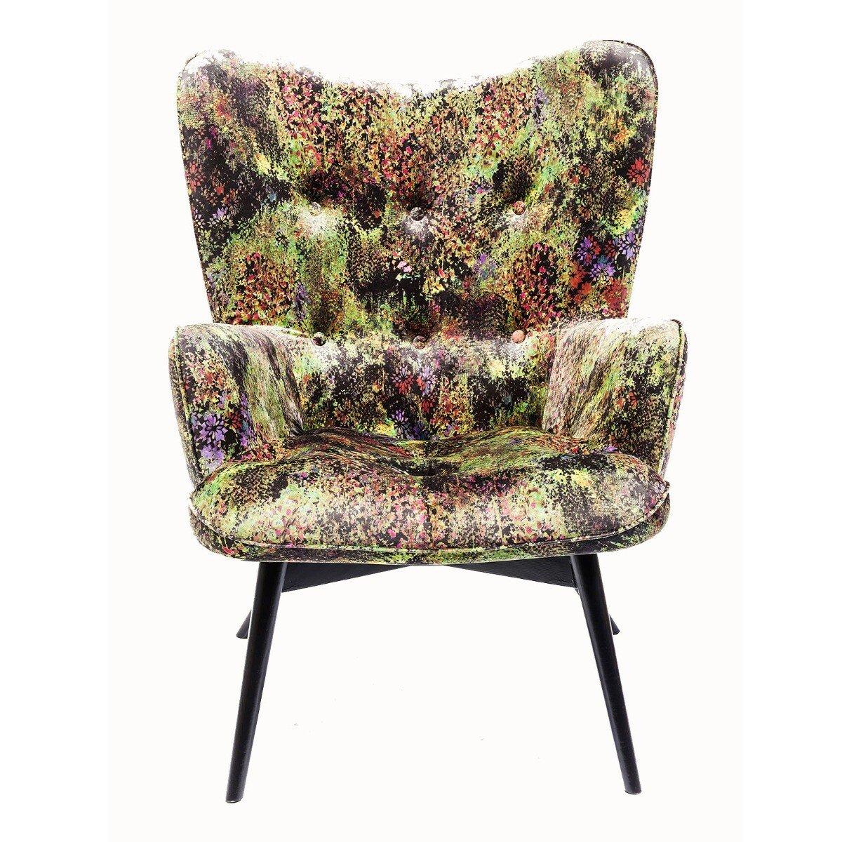Kare Design fauteuil black vicky groen 92 x 59 x 63