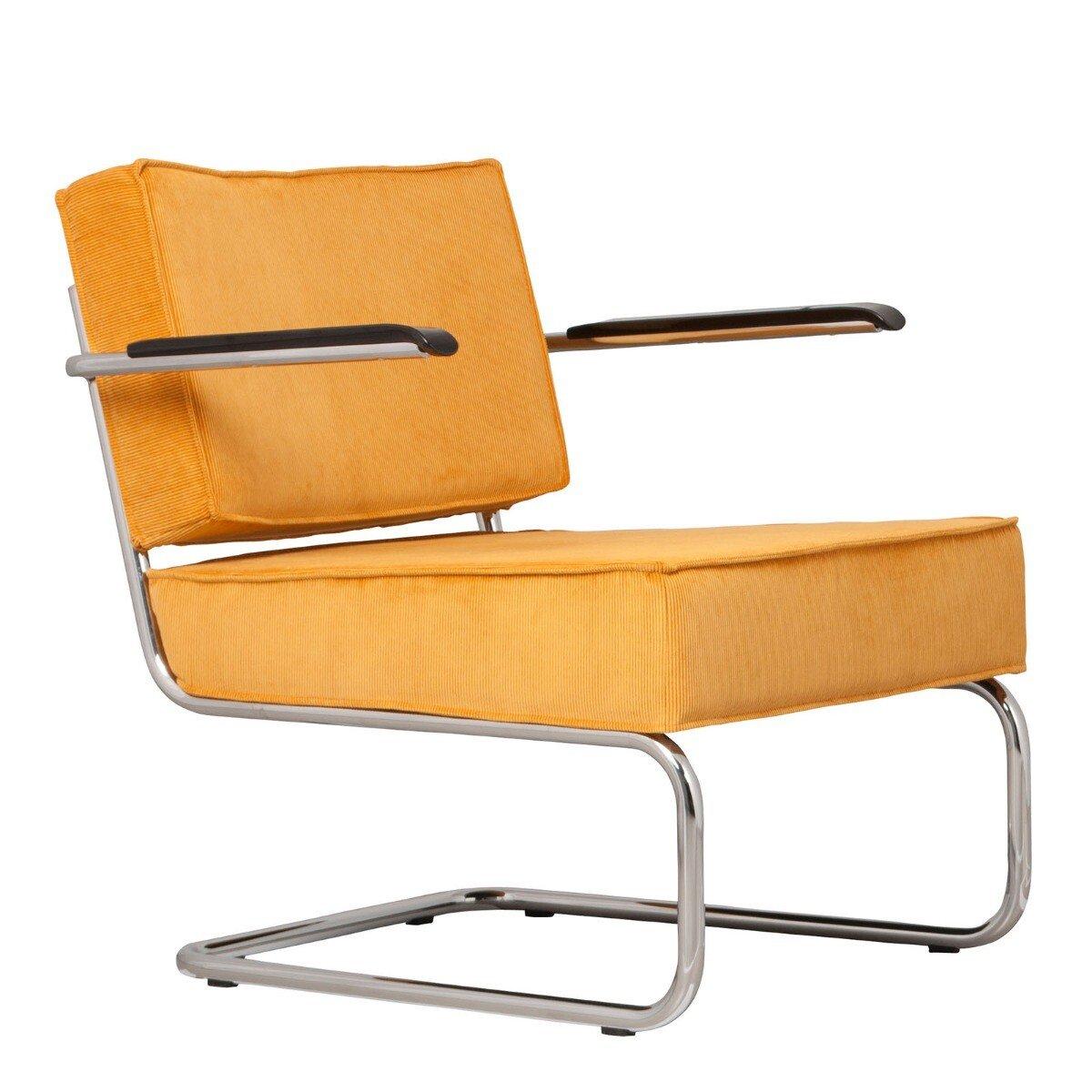 Zuiver Lounge Chair Ridge Rib Leuning