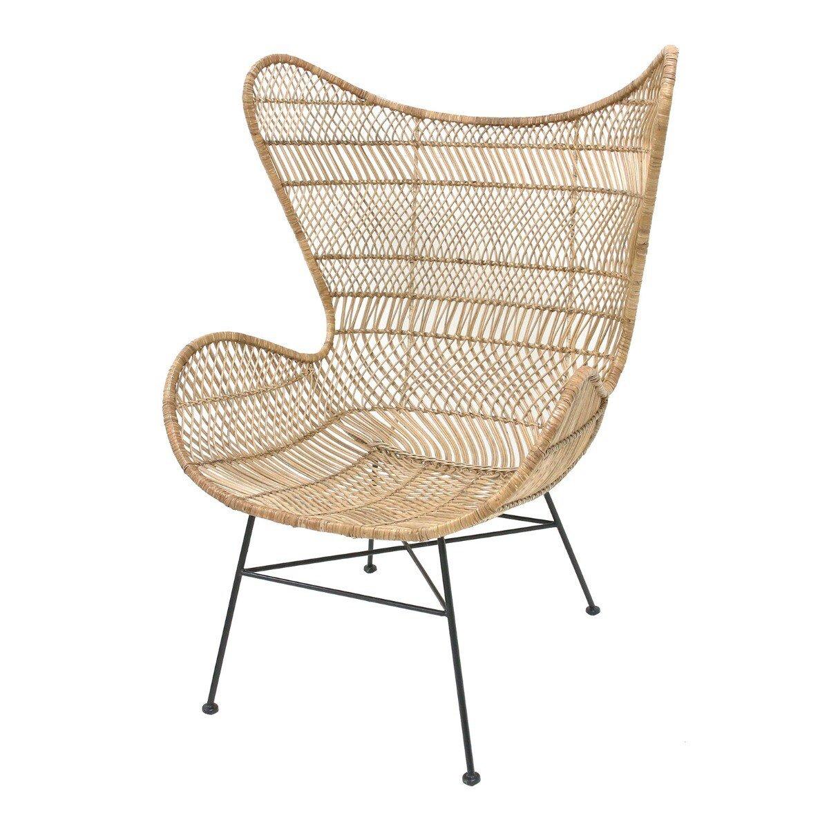 HKliving fauteuil bohemian rotan naturel 110 x 74 x 82