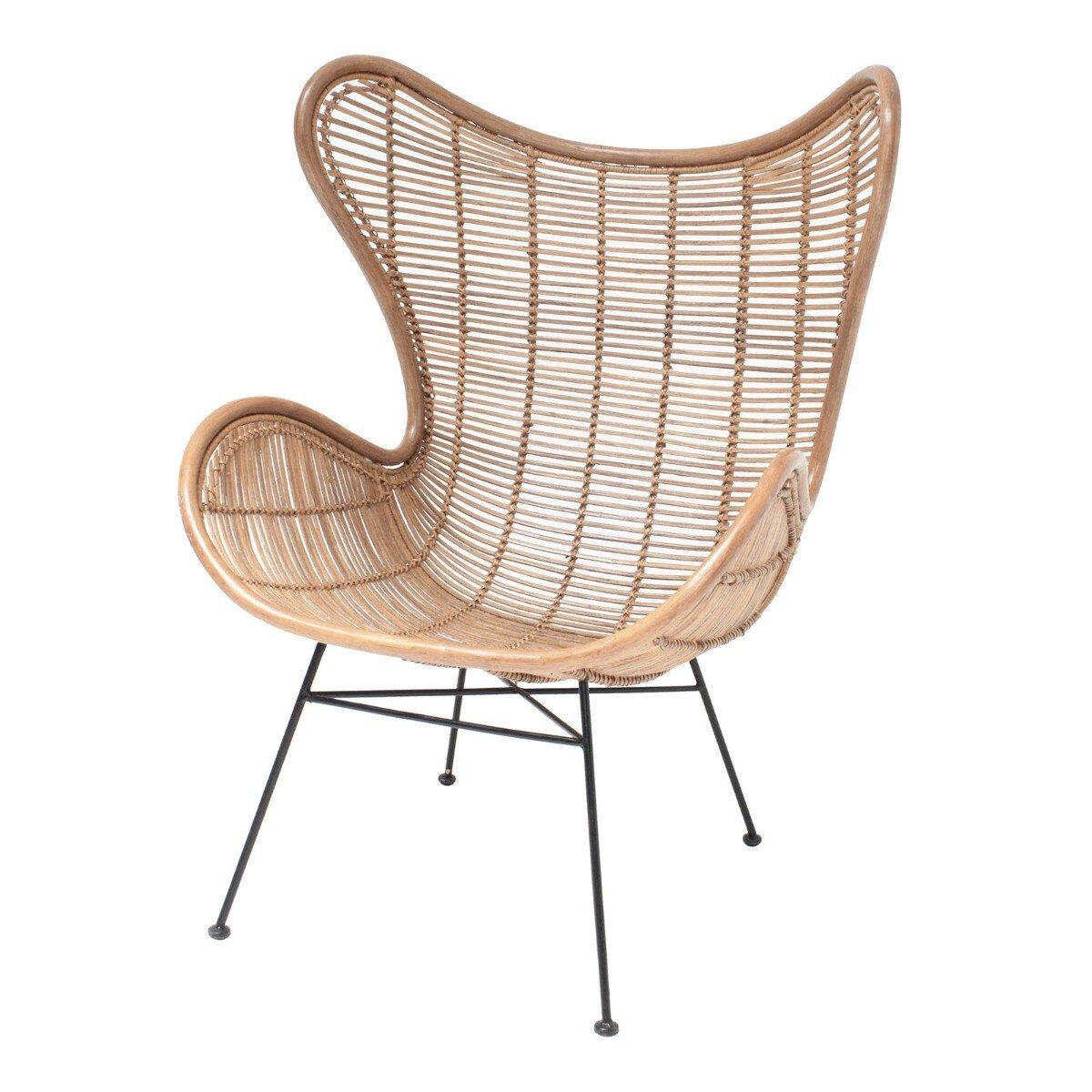 HKliving fauteuil rotan naturel 110 x 70 x 83
