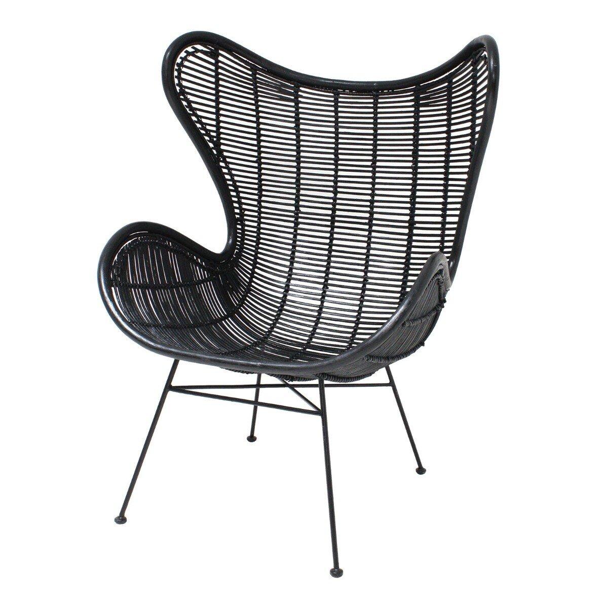 HKliving Egg Chair Stoel Zwart