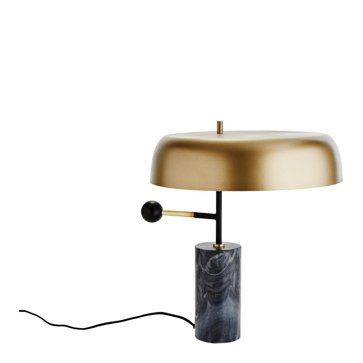 Madam Stoltz tafellamp messing-marmer 43 x Ø 44