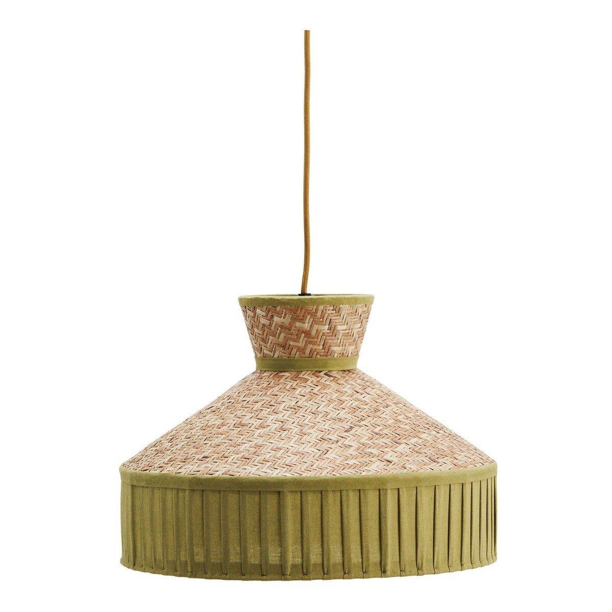 Madam Stoltz Hanglamp Bamboe Katoen Groen 28 x �40