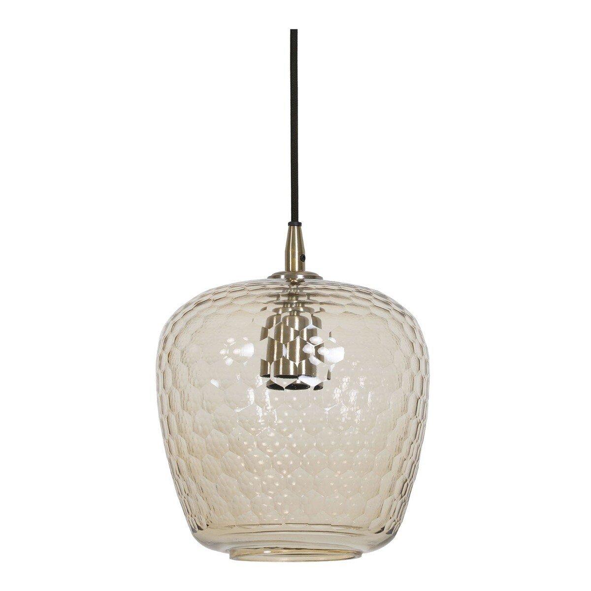 Light & Living Hanglamp DANITA glas antiek brons M