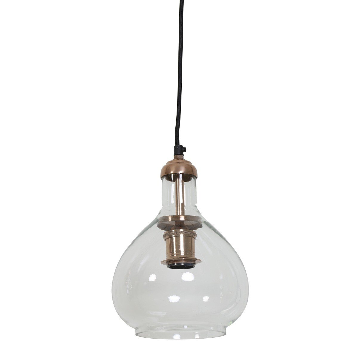 Hanglamp Dela glas koper