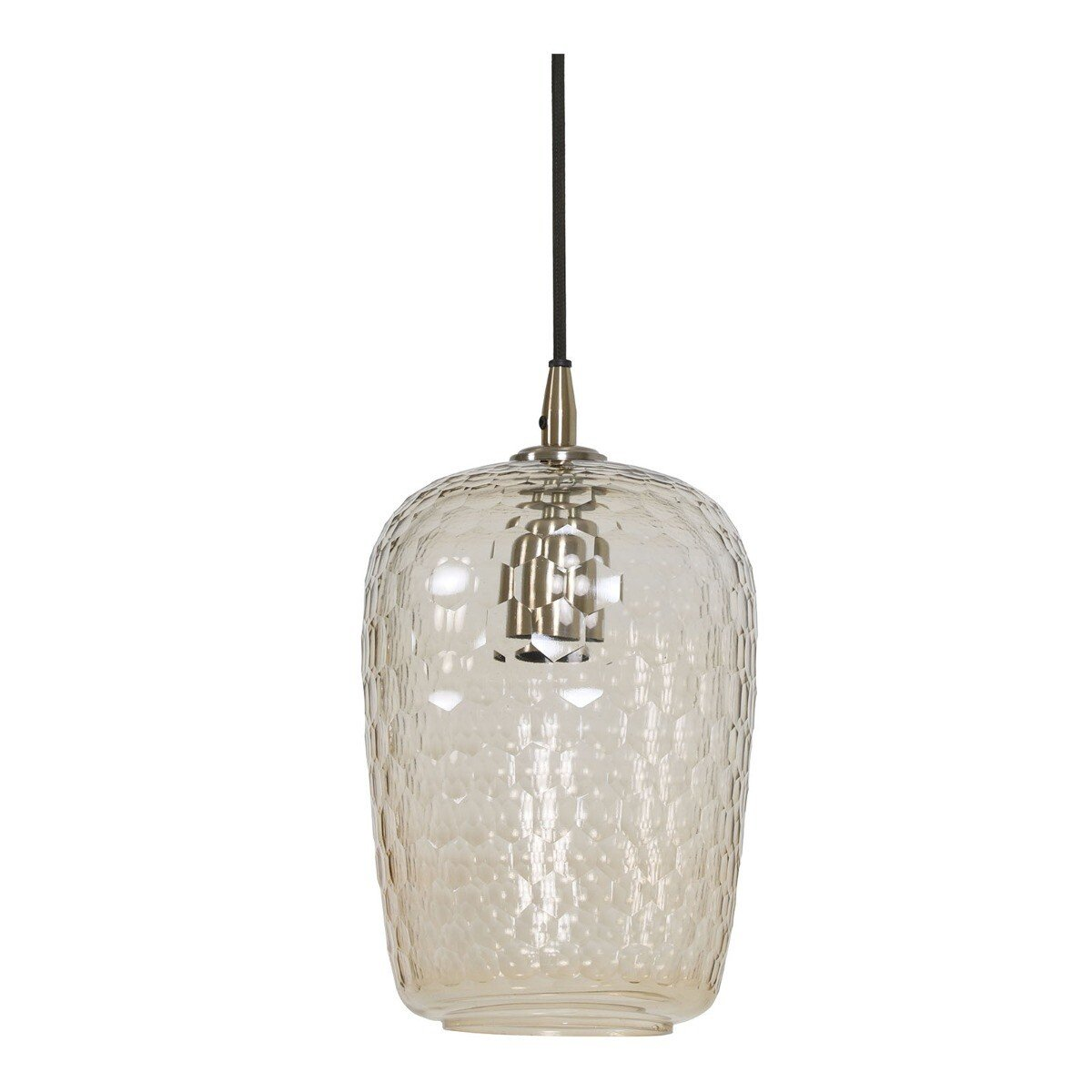 Light & Living Hanglamp DELICA glas antiek brons