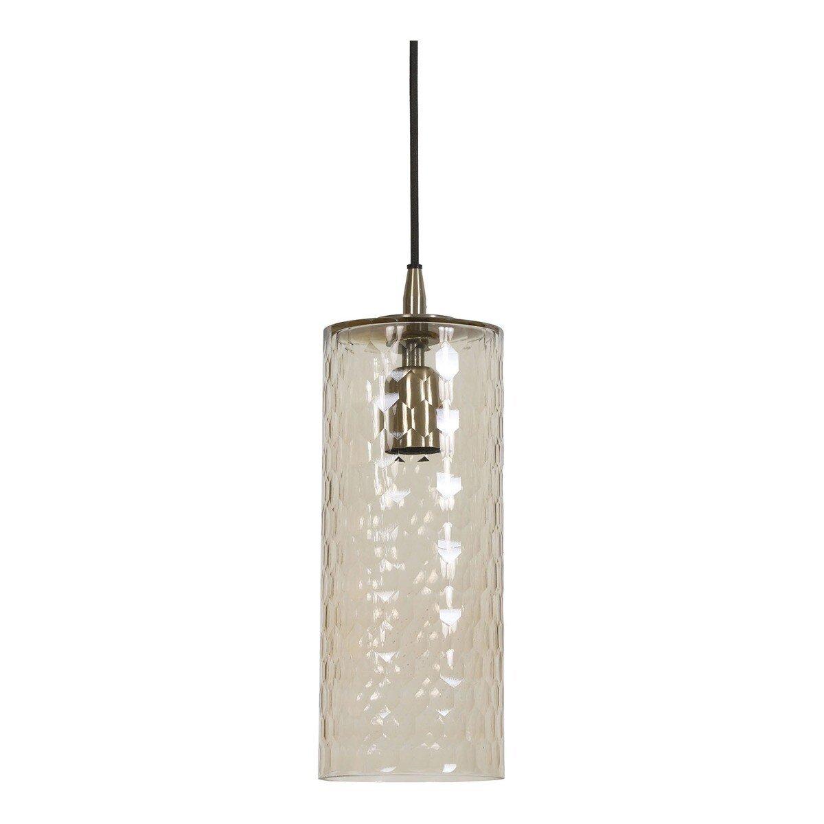 Light & Living Hanglamp DYLANA glas antiek brons M