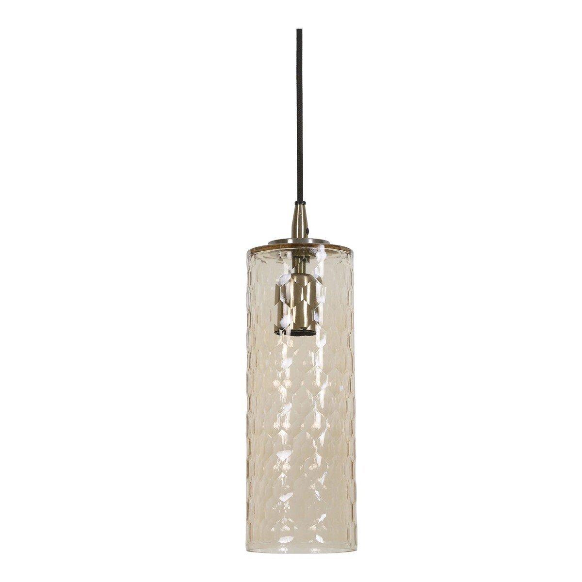 Light & Living Hanglamp DYLANA glas antiek brons S
