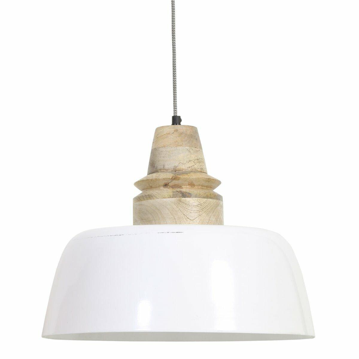 Light&Living Hanglamp Margo wit- hout naturel 33 x �40