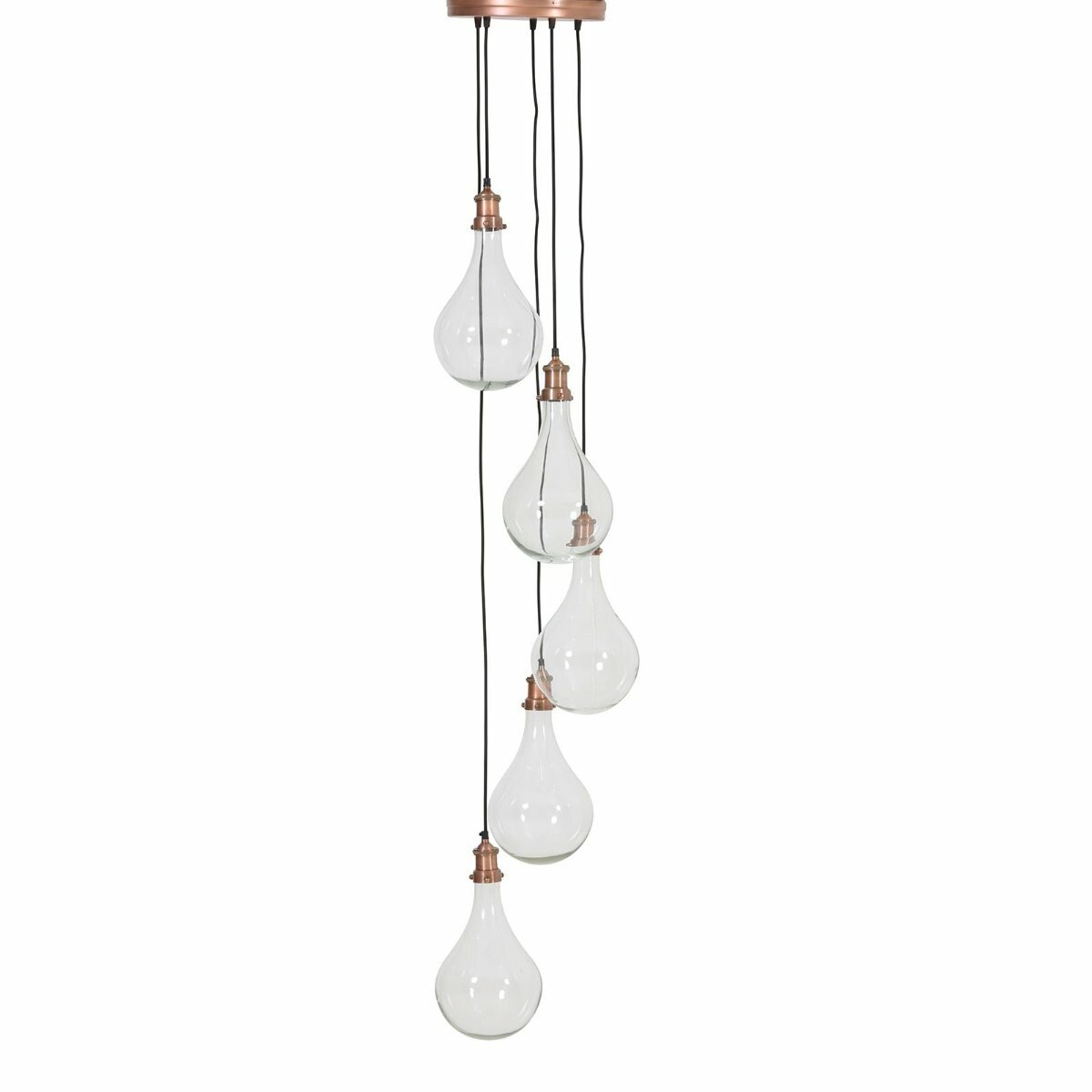 Light&Living Hanglamp Quirina glas koper 190 x �30