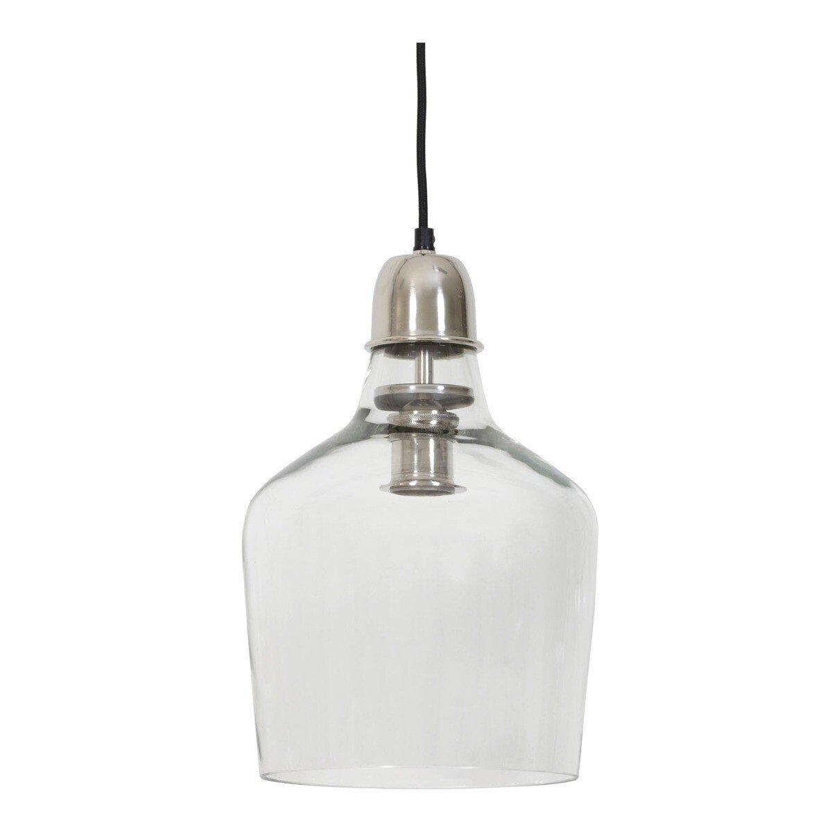 Hanglamp Ø23x37 cm SAGE glas nikkel Light & Living