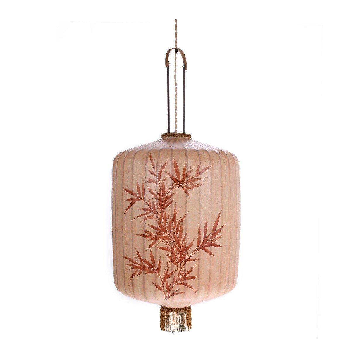 HKliving hanglamp stoffen lantaarn XL 62 x 45