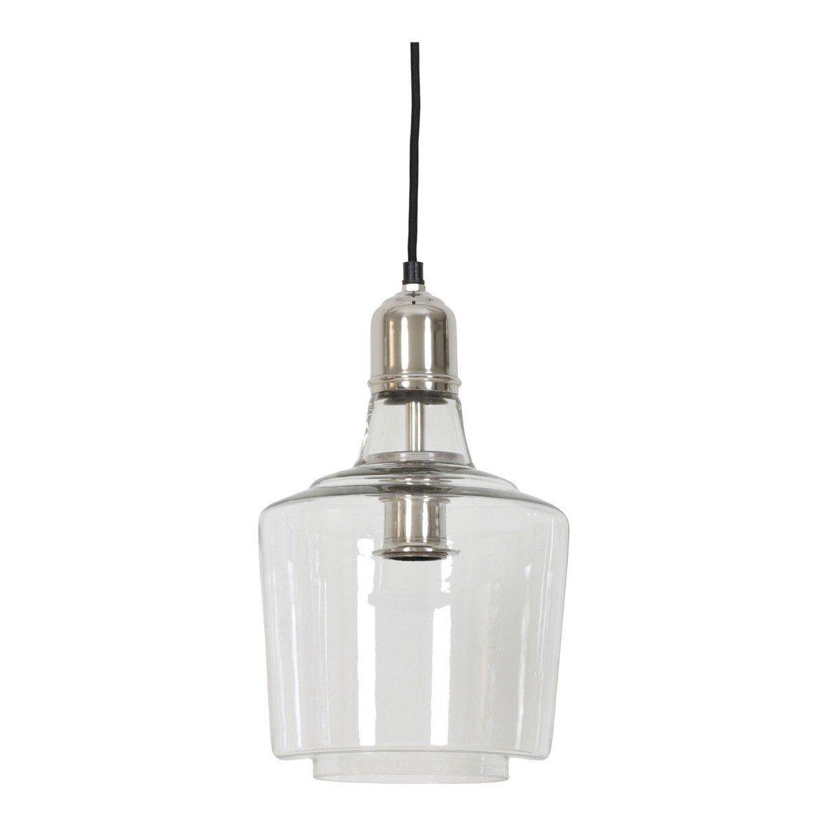 Hanglamp Ø21x34 cm YOLE glas nikkel Light & Living