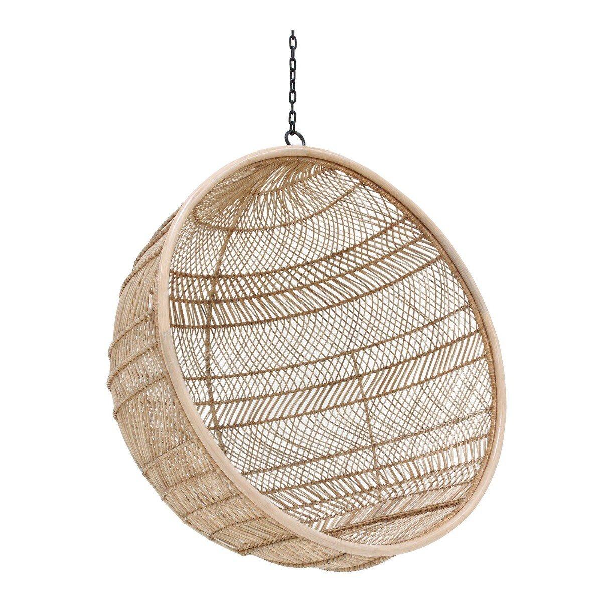 HKliving hangstoel bohemain Rotan bal naturel 68 x �104