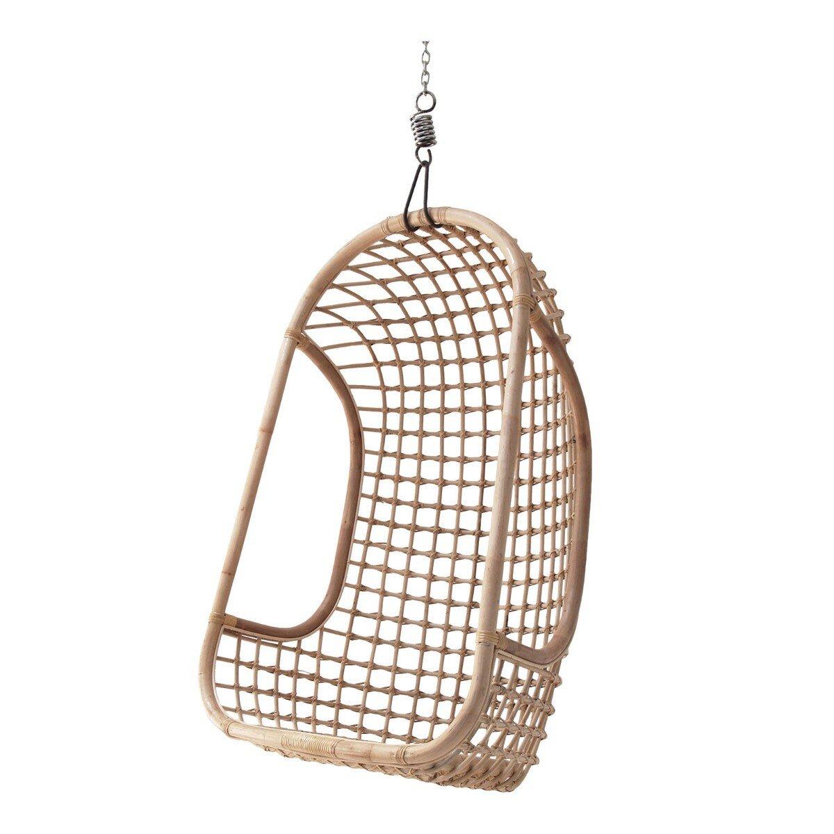 HKliving hangstoel rotan naturel 110 x 72 x 55