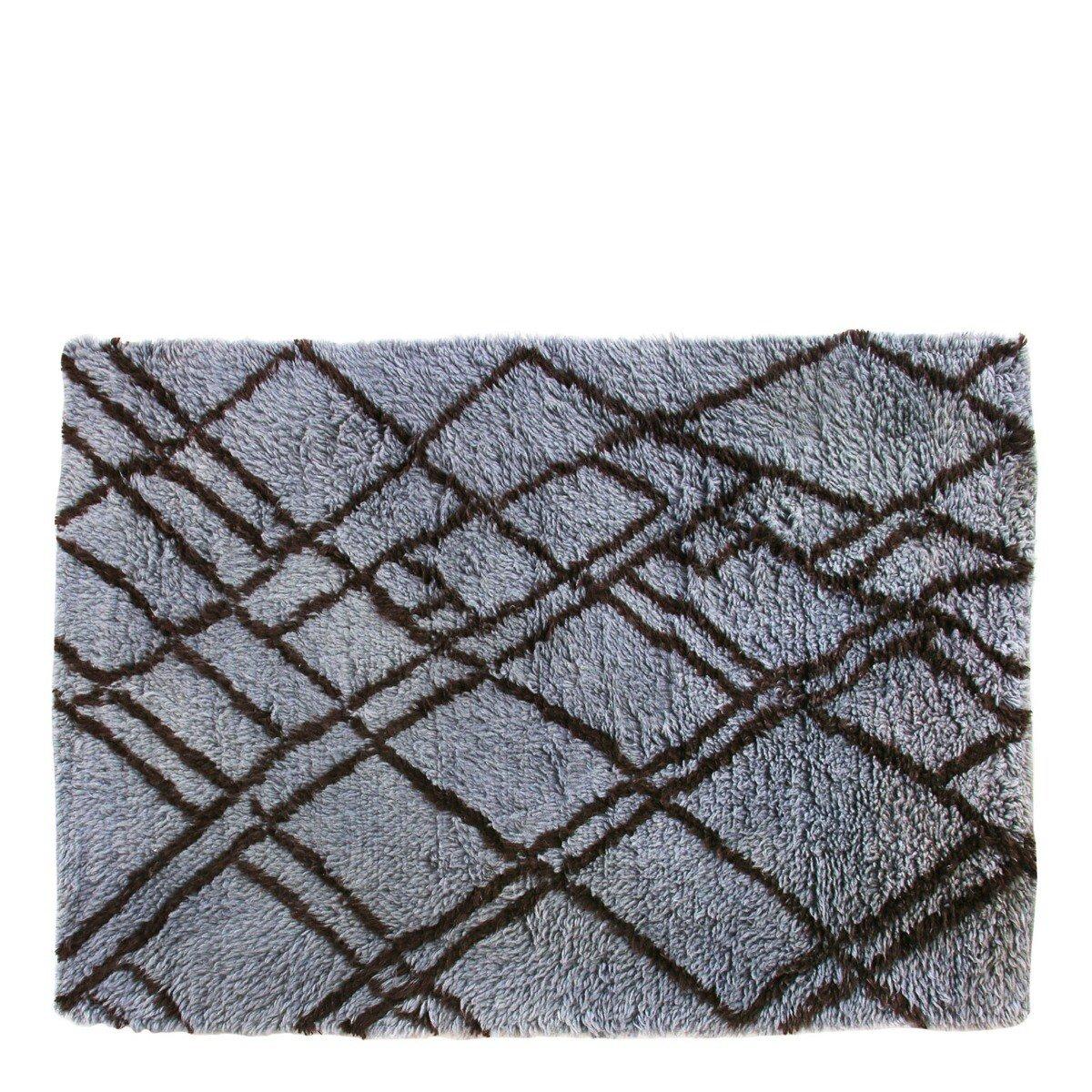 HKliving vloerkleed berber wol grijs blauw 180 x 280