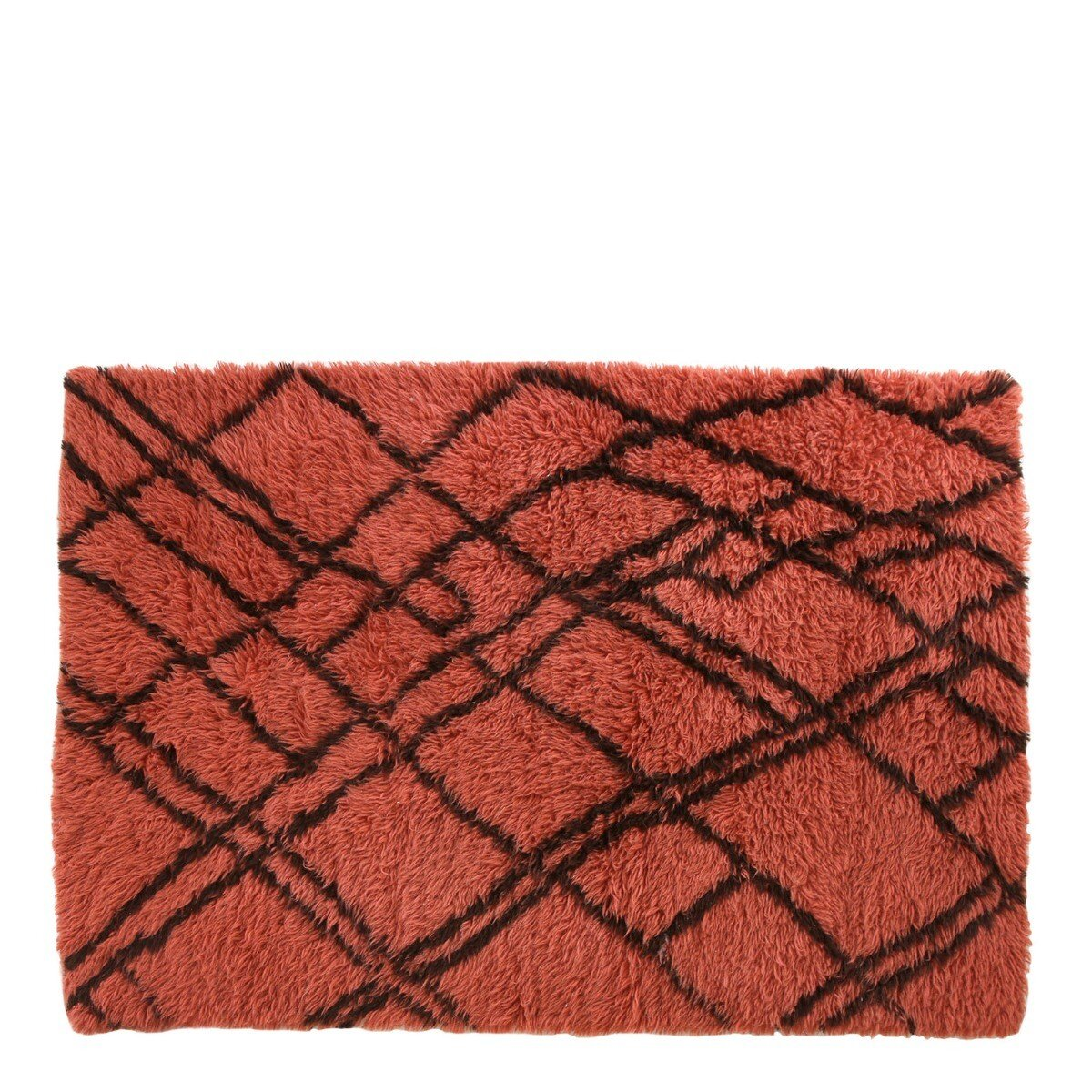 HKliving vloerkleed berber wol funky red 120 x 180