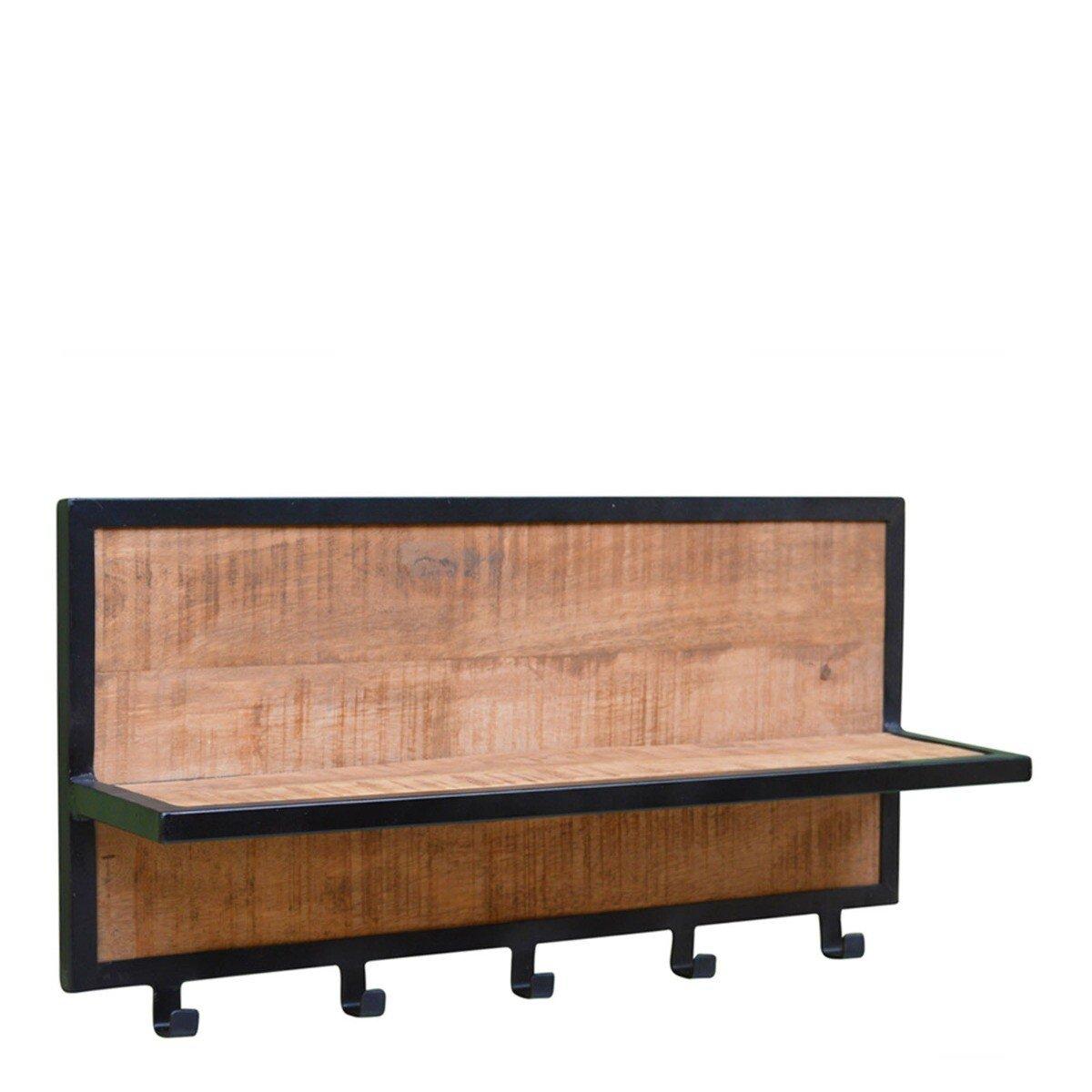 Livingfurn Kapstok Brix Caro Mango hout 30 x 70 x 15