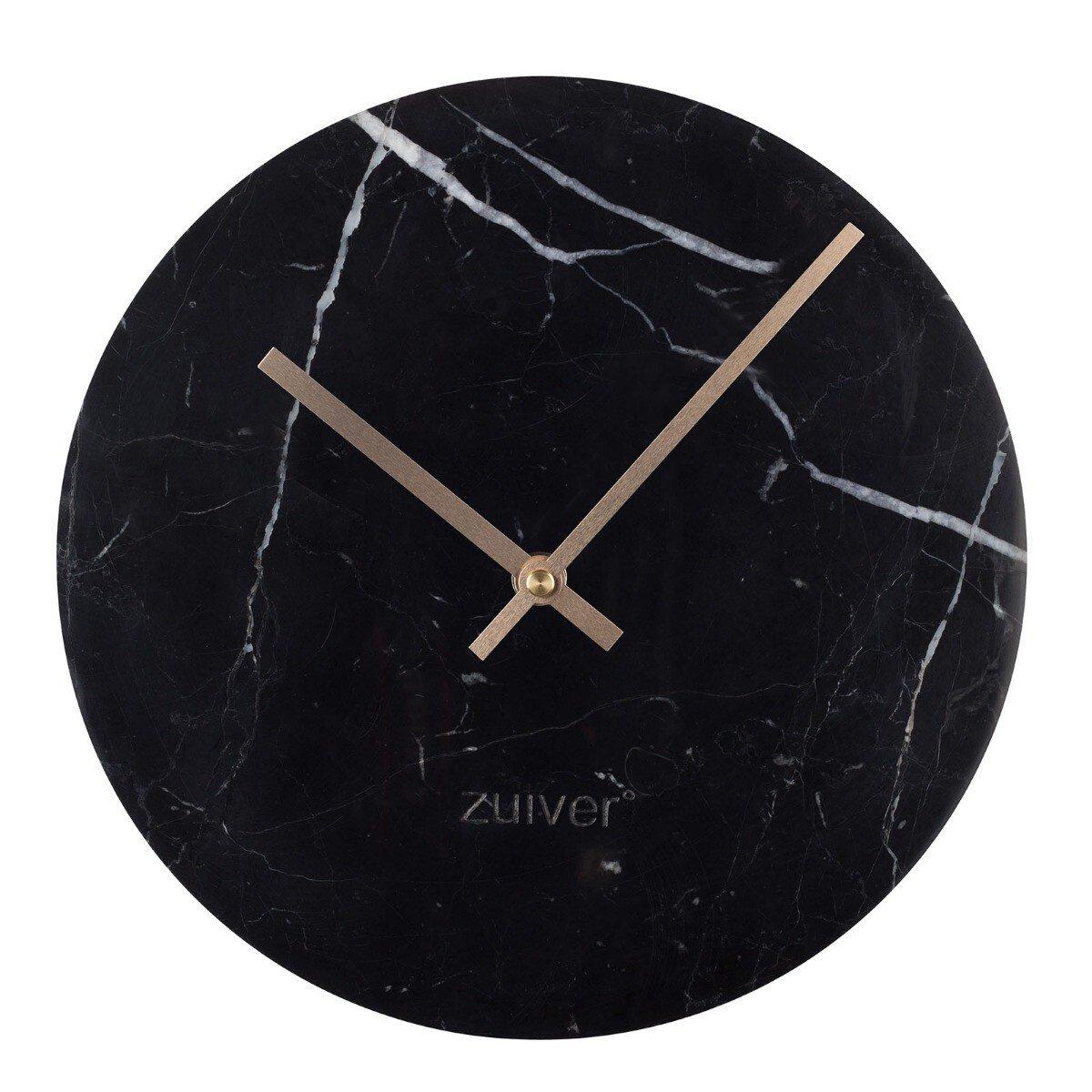 Zuiver Time Wandklok Marmer 25 cm Zwart