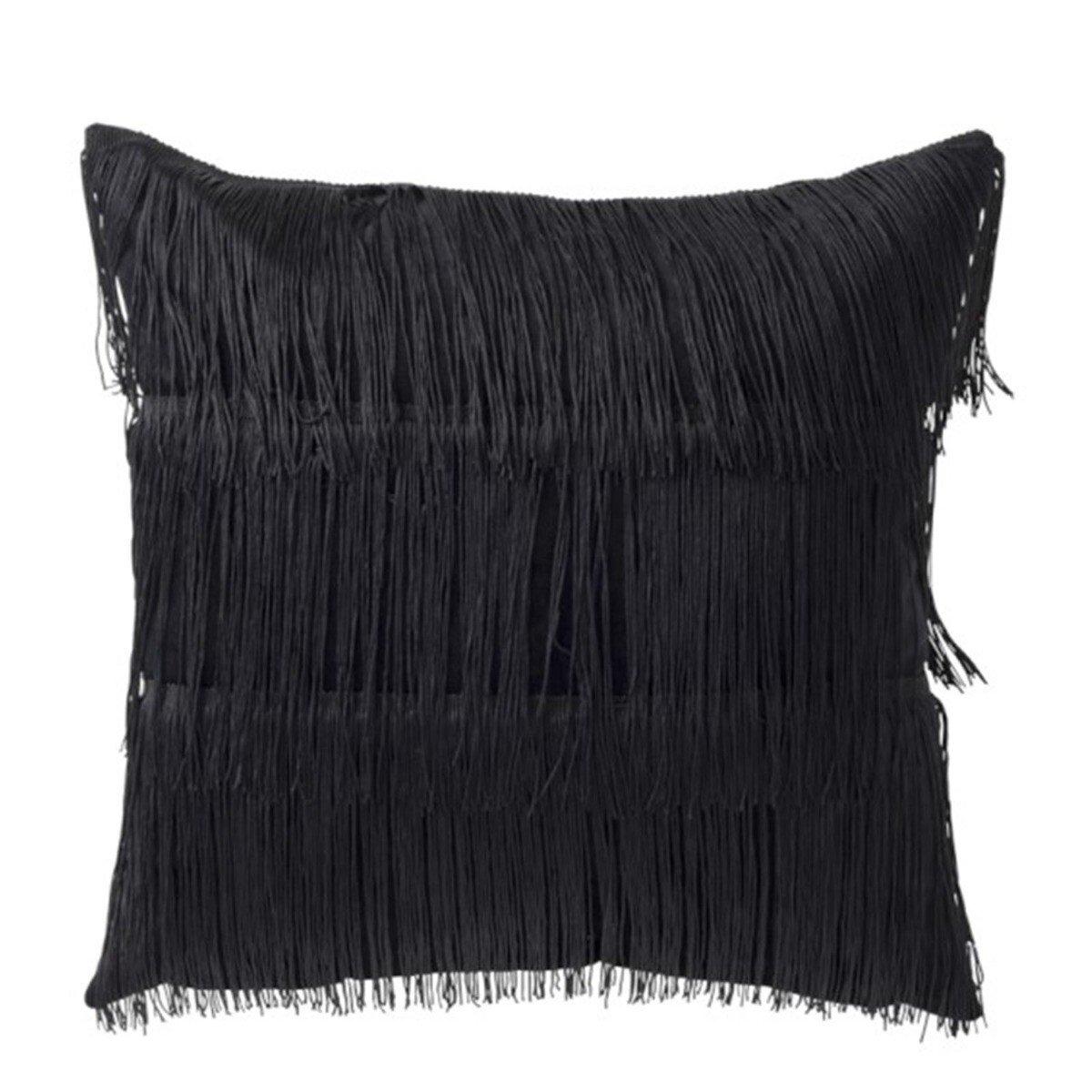 J-Line kussen draden zwart 45 x 45