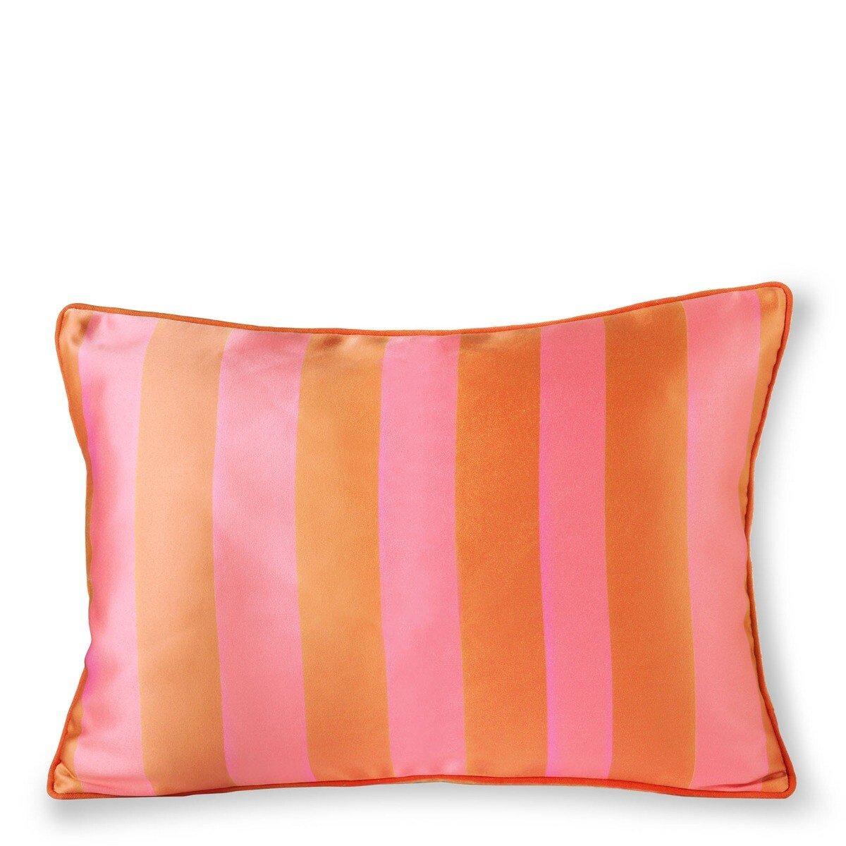 HKliving Kussen Orange Pink Satijn Velvet 35 x 50