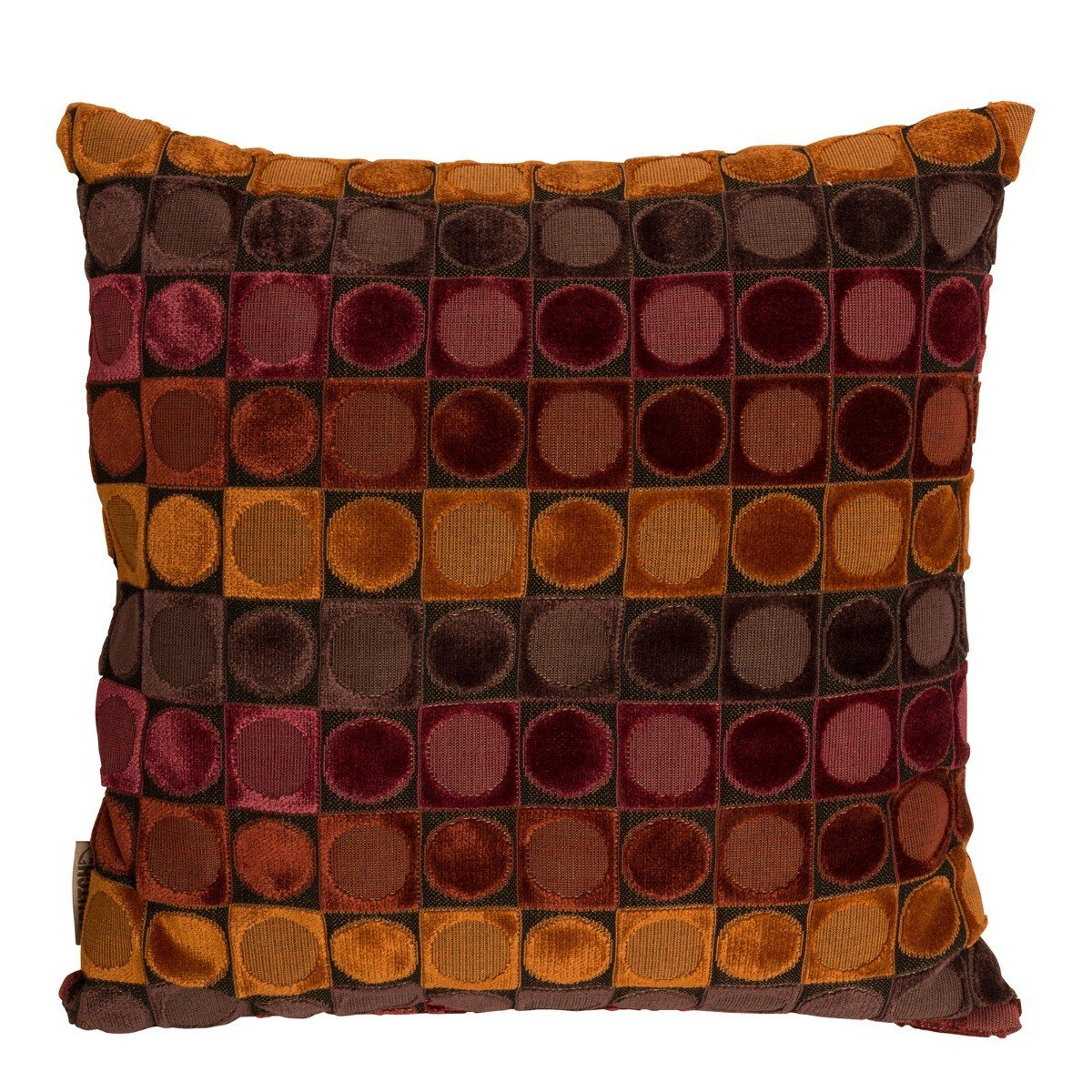 Dutchbone Ottava Kussen 45 x 45 cm Red-Orange