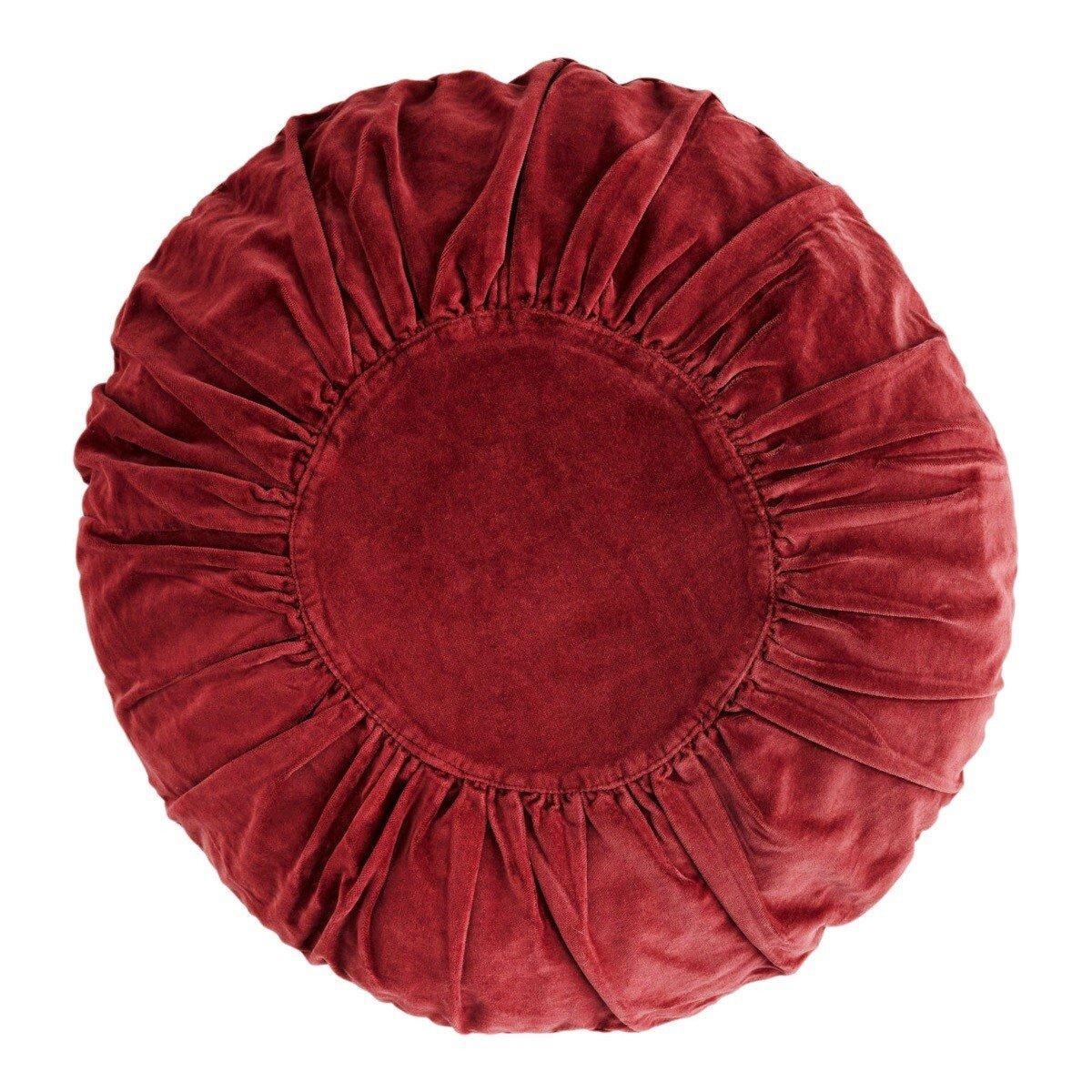 Madam Stoltz kussen ruby wine round velvet � 45