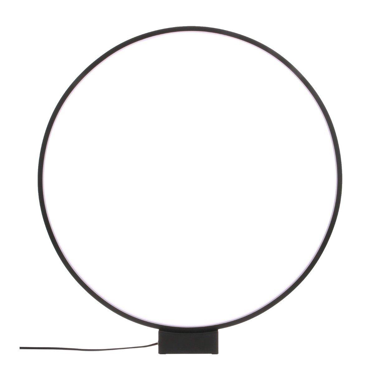 HKliving tafellamp luminous circle zwart 60 x 60 x 5,5