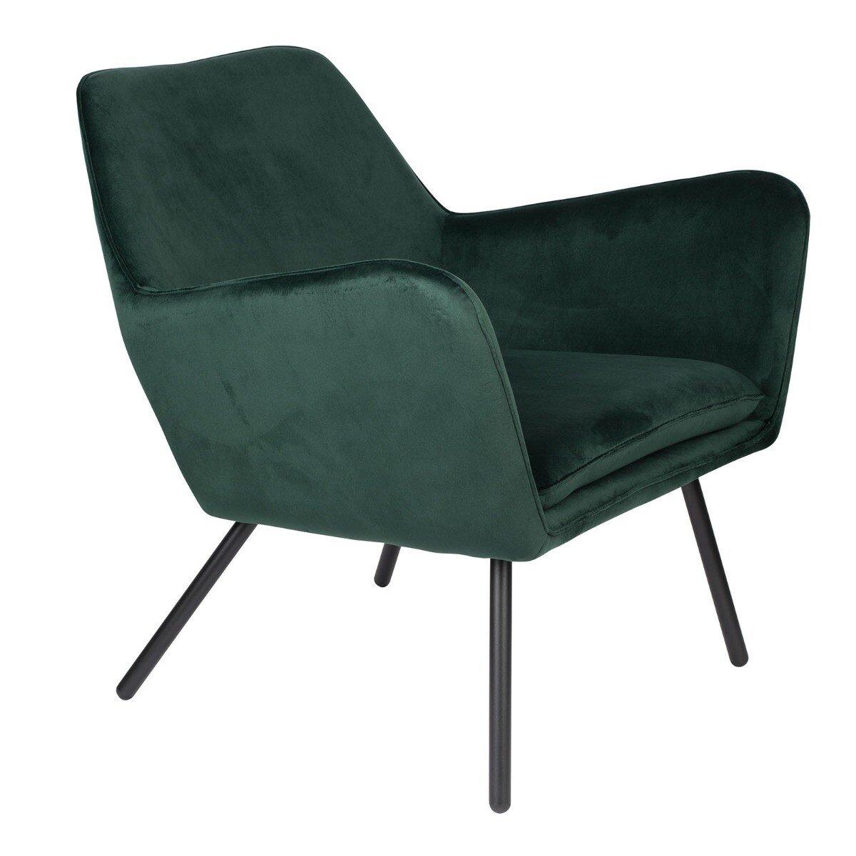 Wants&Needs Fauteuil Bon Velvet groen 78 x 80 x 76