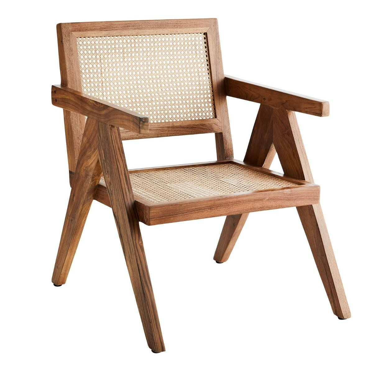 Madam Stoltz lounge stoel hout naturel 80 x 55 x 55