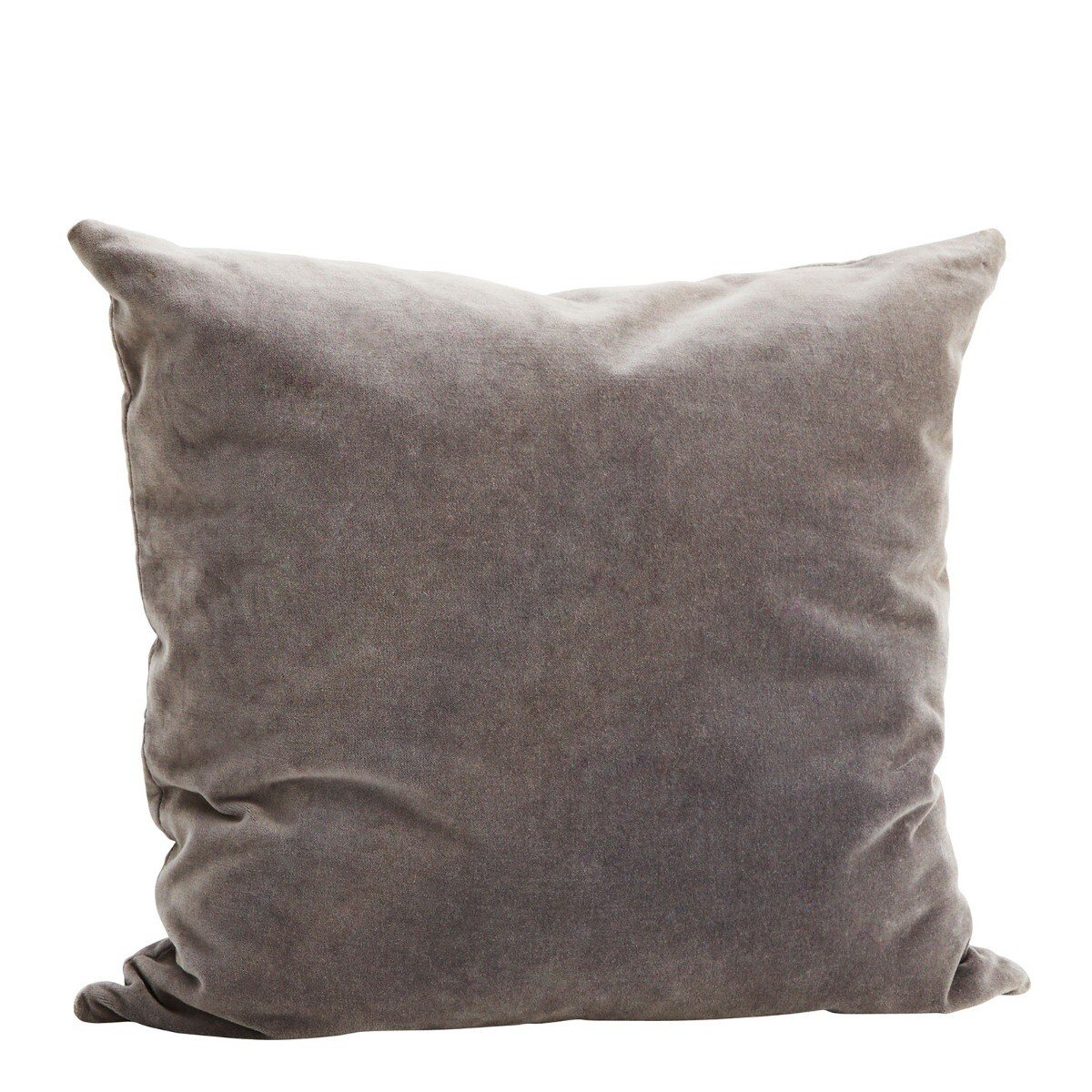 Madam Stoltz kussenhoes velvet donker grijs 50 x 50