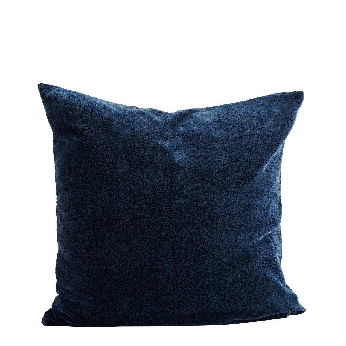 Madam Stoltz kussenhoes blauw velvet 60 x 60