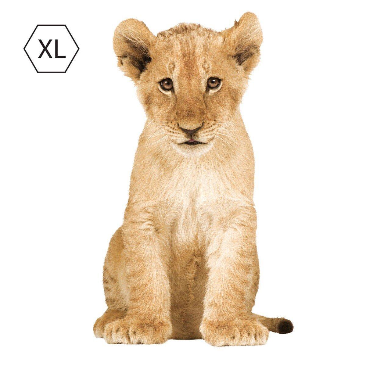 KEK Amsterdam Safari Friends Muursticker XL Leeuwenwelp